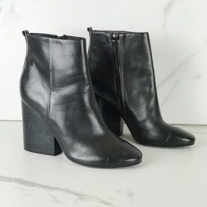 Tory Burch Grove Black Ankle Booties Boot 10.5
